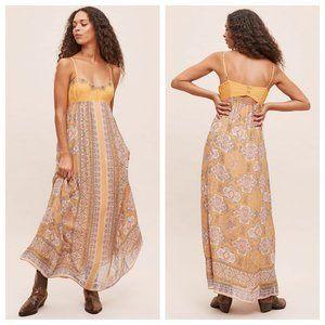 Anthropologie Calida Bohemian Golden Maxi Dress